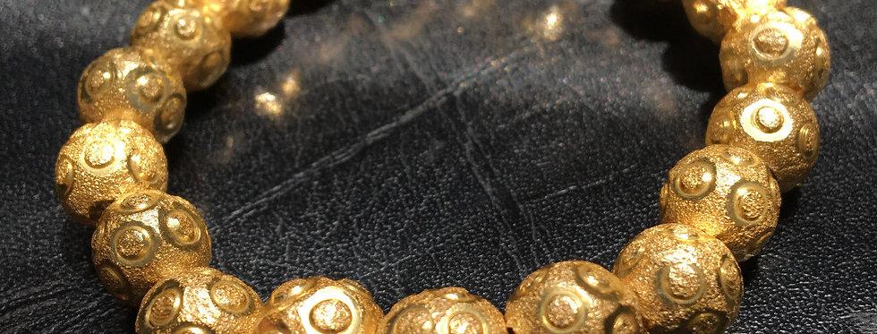 Gold Circular Stardust Bracelet