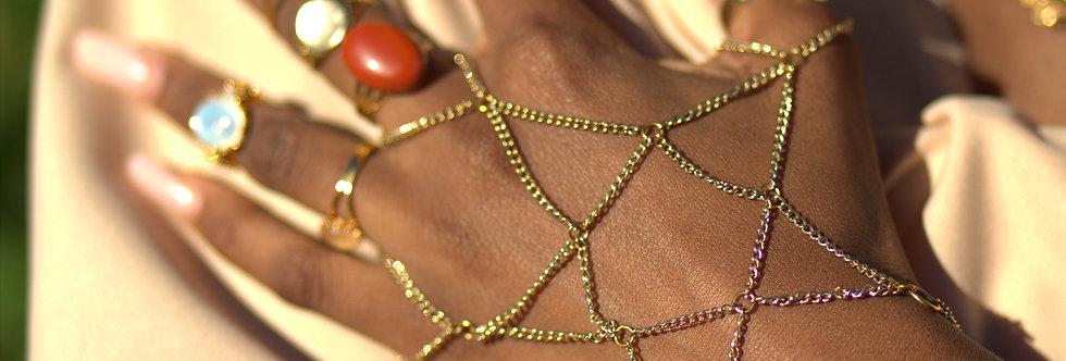 Pentagram Hand Chain