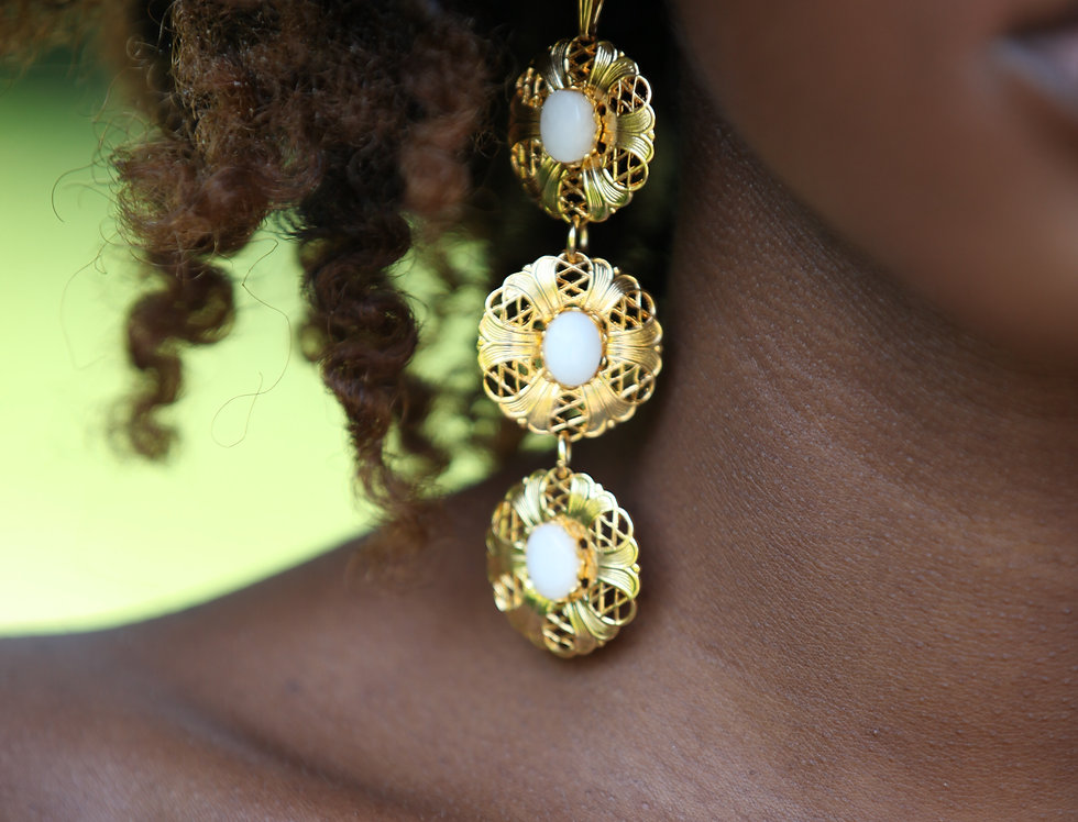 Ocha Disc Dangle Earrings
