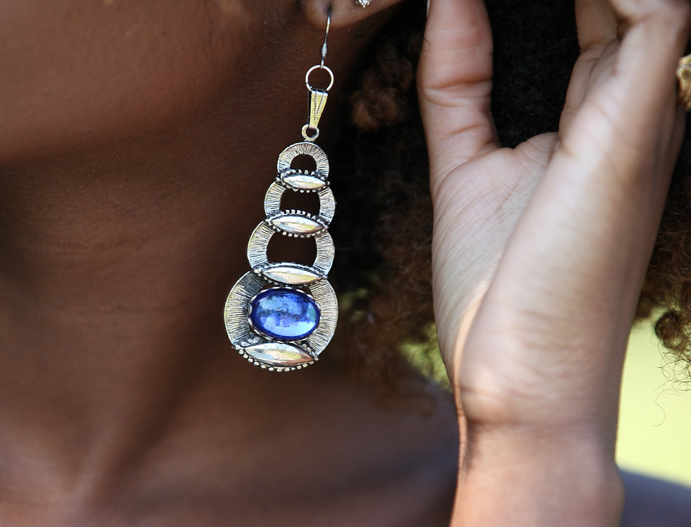 Too Blue Dangle Earring ( Click for Gold )