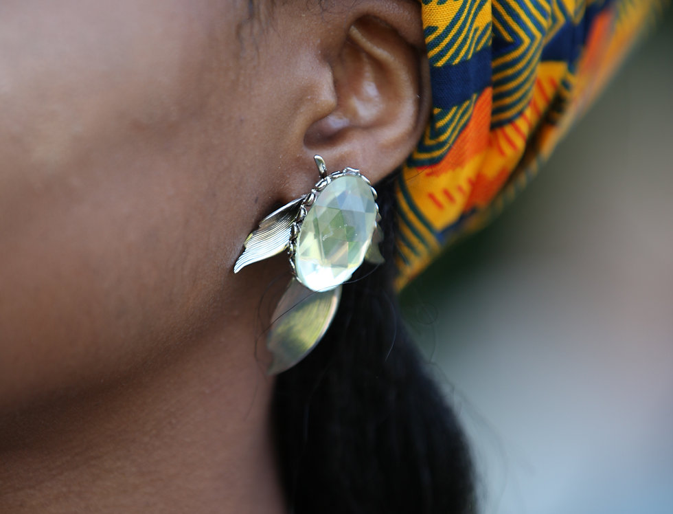 Lighted Gem Stud Earring