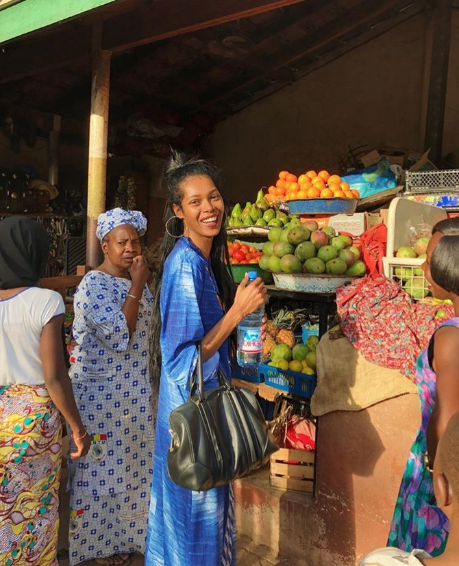 "Supermodel Jessica White visits Mali & Senegal ""So blessed to have finally come Home"""