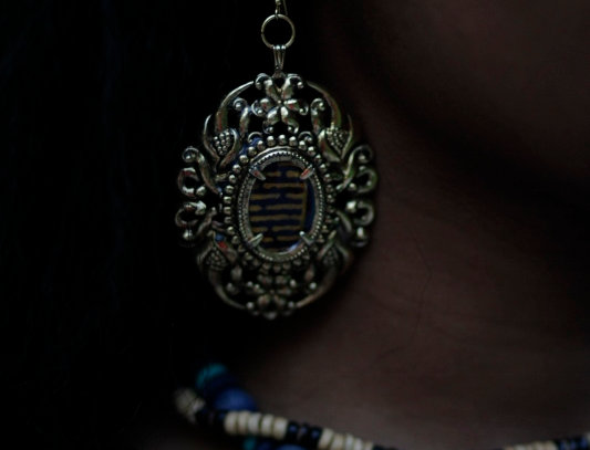 Ankara Plated Gold Dangle Earrings YELLOW