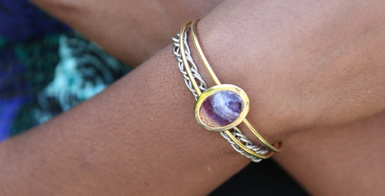 Solar Gem Cuff - More Colors!