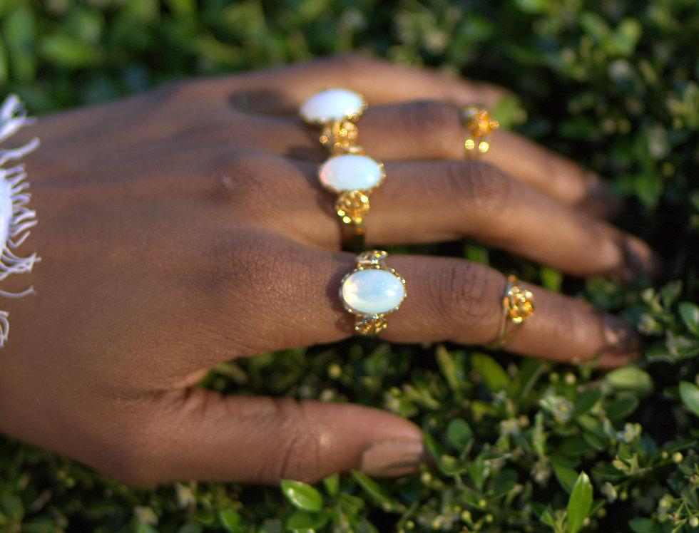 Gold Leaf Me Ring Set