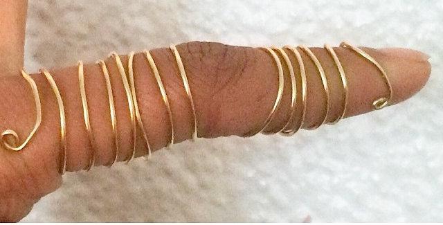 Split Spiral Full Finger Ring