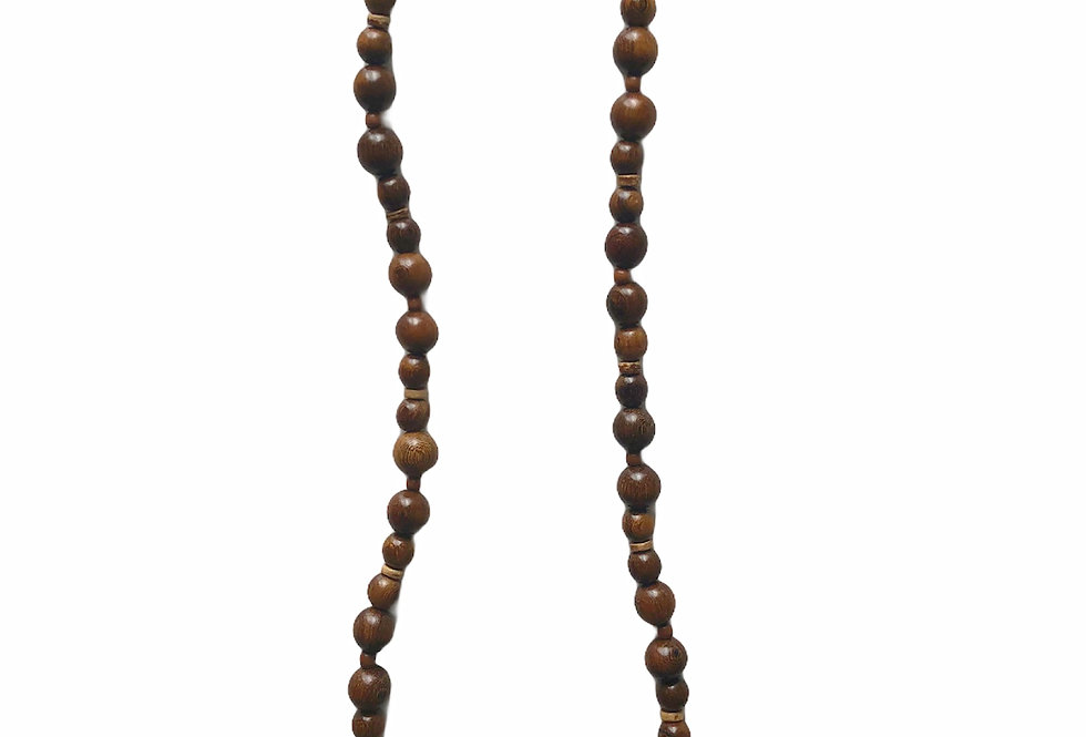 Level Beaded Necklace - Dark Brown