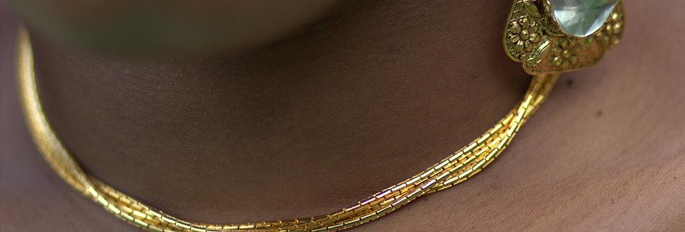 Gold Snake Chain Set