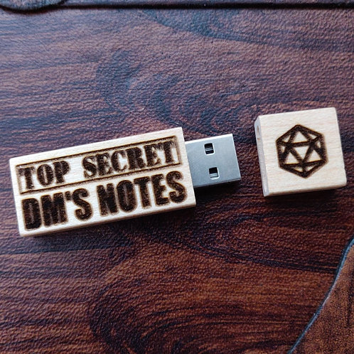 Dungeon Master's Notes Engraved USB Stick