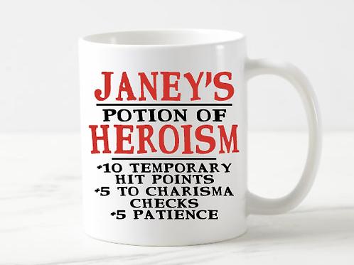 Custom Potion of Heroism Mug