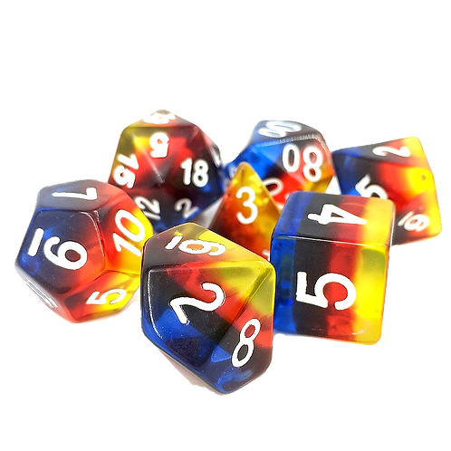 Primary   Polyhedral Dice Set