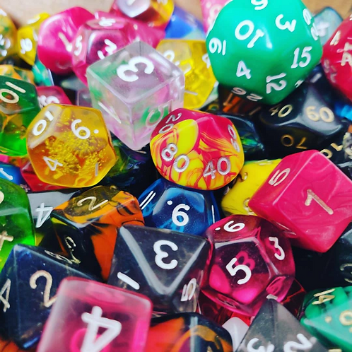7 Random Dice | Mixed Polyhedral Dice Set