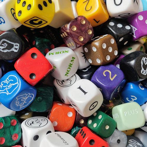 10 Random Oddball Six-Sided Dice