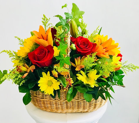 AUTUMN FLOWER BASKET