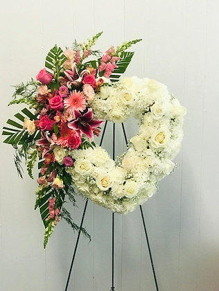 HOLD YOU DEAR IN OUR HEARTS WREATH