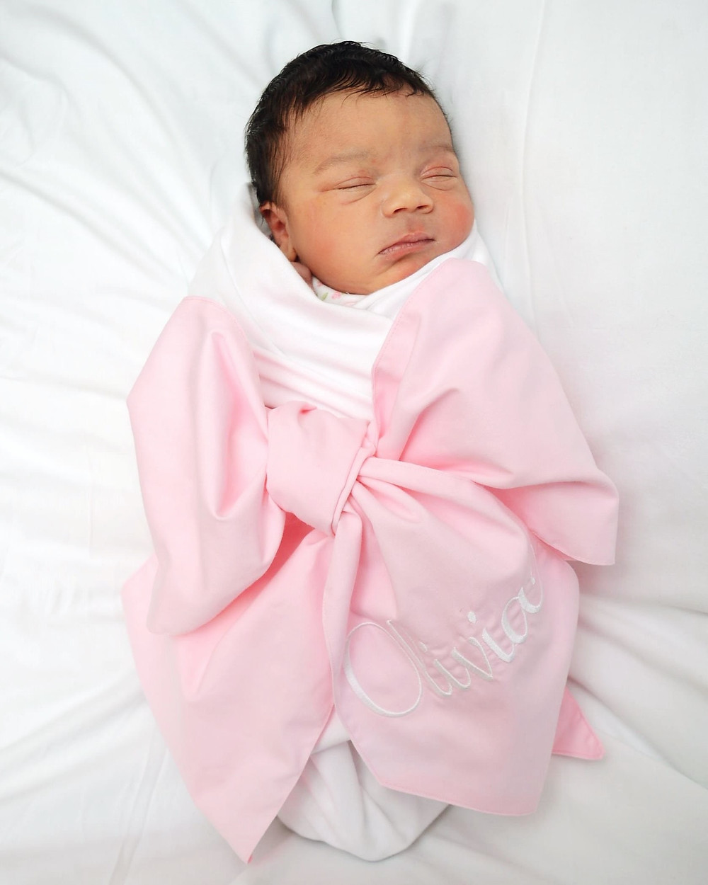 Monogrammed Gorgeous Swaddle with Bow