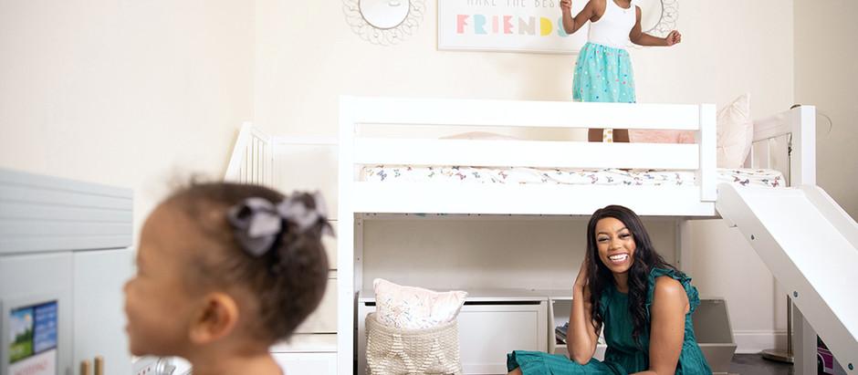 Madison Kate Bedroom Makeover – Part 1           Big Girl Bed