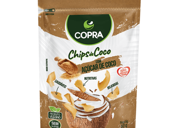 Chips Coco com Açúcar de Coco