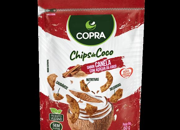 Chips Coco com Açúcar Coco Sabor Canela