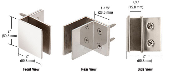 Wall Mount Square Mall Front Clamp