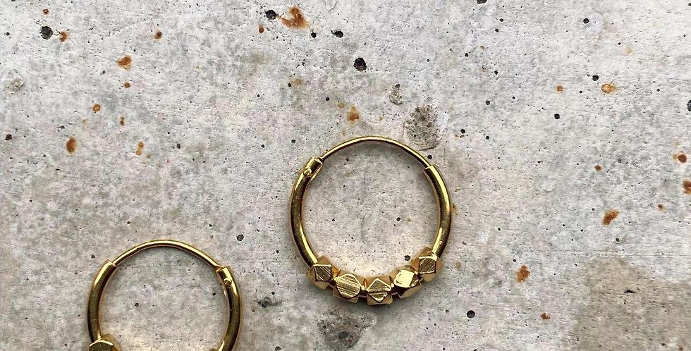 kreolen, vergoldet, 1.2 cm