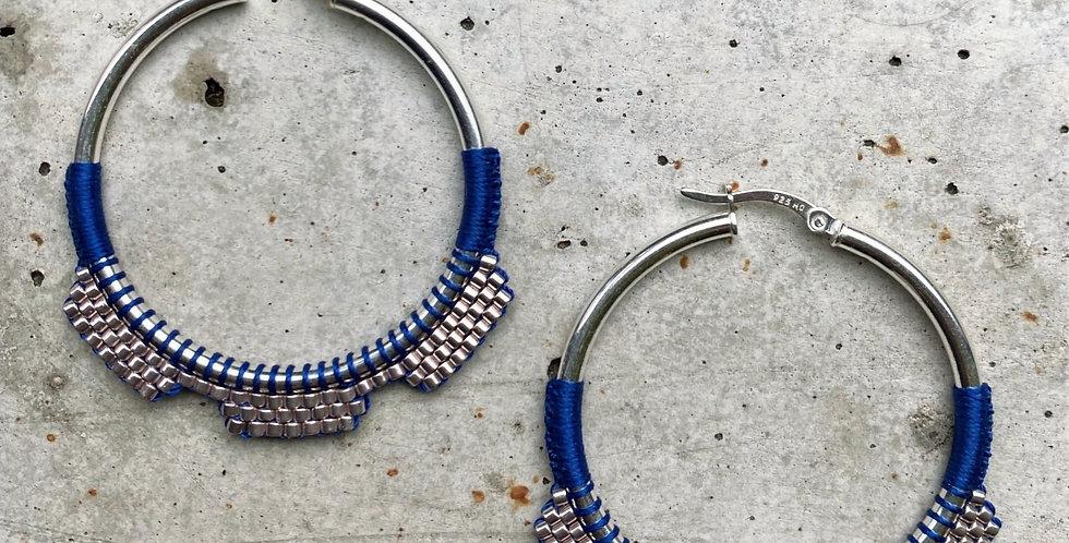 kreolen, blau, 4 cm