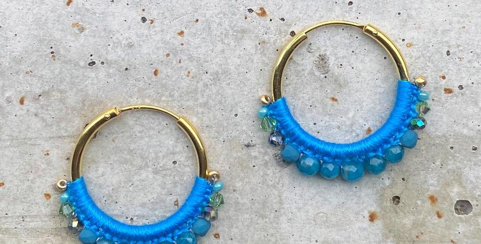 kreolen, blau, 2.5 cm