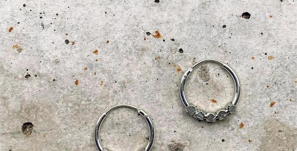 kreolen, silber, 1.2 cm