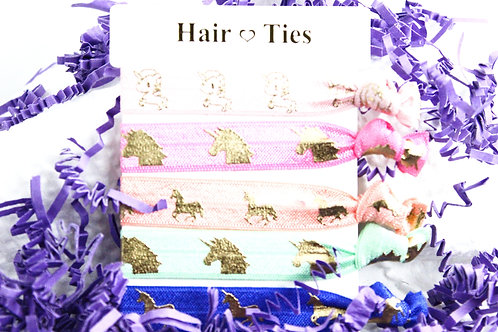 Unicorn Collection Hair Ties