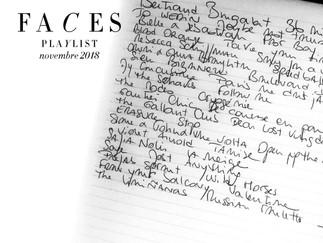 Faces, playlist novembre 2018