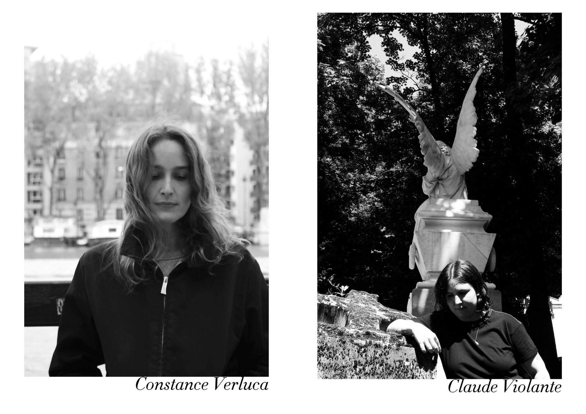 Constance Verluca et Claude Violante par Nicolas Vidal  #chanteusesdefrance