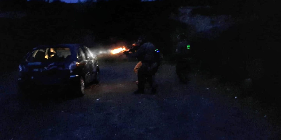 Car Fighting Course in Low Light Conditions