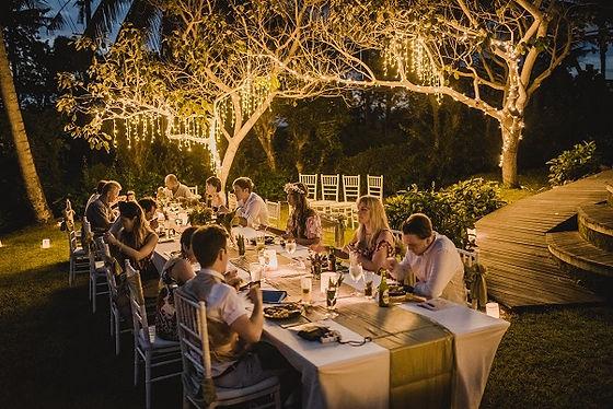bali wedding dinner