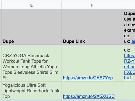 The Amazon Activewear Dupe Master List!