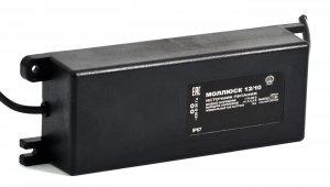 Моллюск 12/10 источник питания 12В, 10А. Сетевой диапазон 170-250В, корпус IP 67