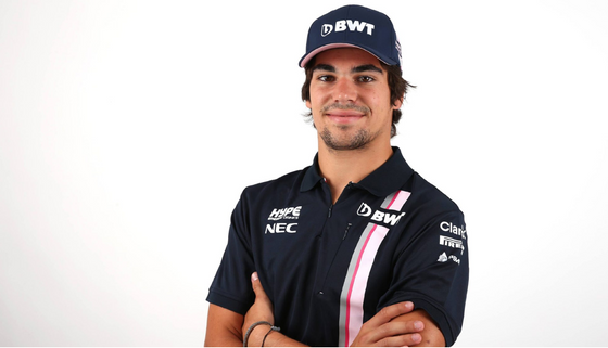STROLL SIGNS FOR FORCE INDIA