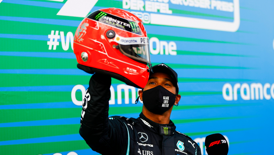 HAMILTON WINS EIFEL GRAND PRIX TO EQUAL ALL TIME WIN RECORD