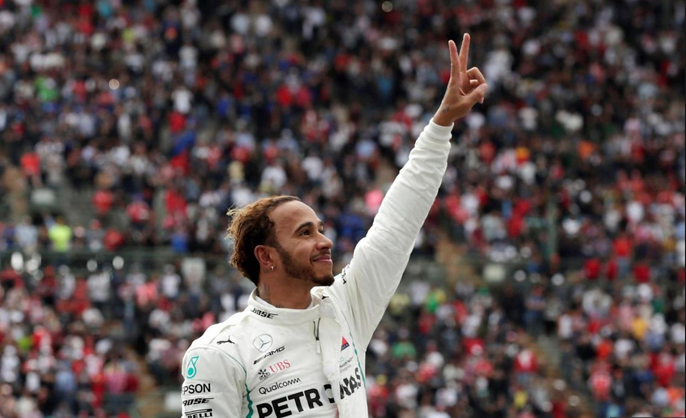 Lewis Hamilton after winning 5th World Title