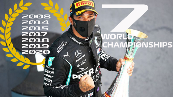 LEWIS HAMILTON IS A SEVEN TIMES WORLD CHAMPION