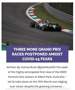 THREE MORE GRAND PRIX RACES POSTPONED AM