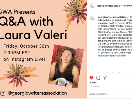 Friday Oct 30, 2pm: Q&A on Instagram