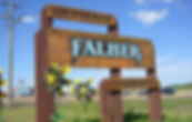 Falher Welcome Sign