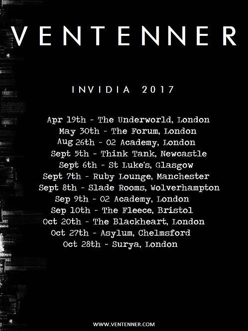INVIDIA 2017 TOUR PRINT