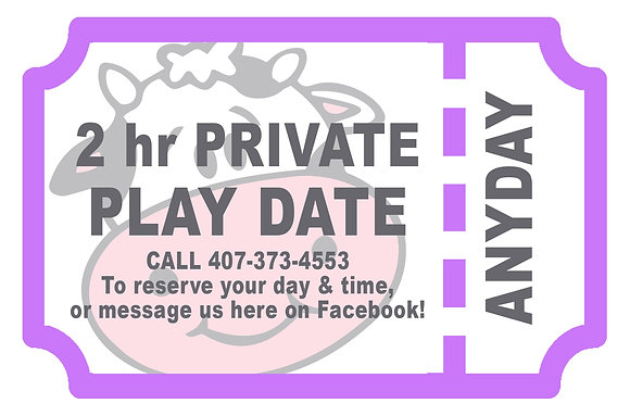 PRIVATE play date gift certificate