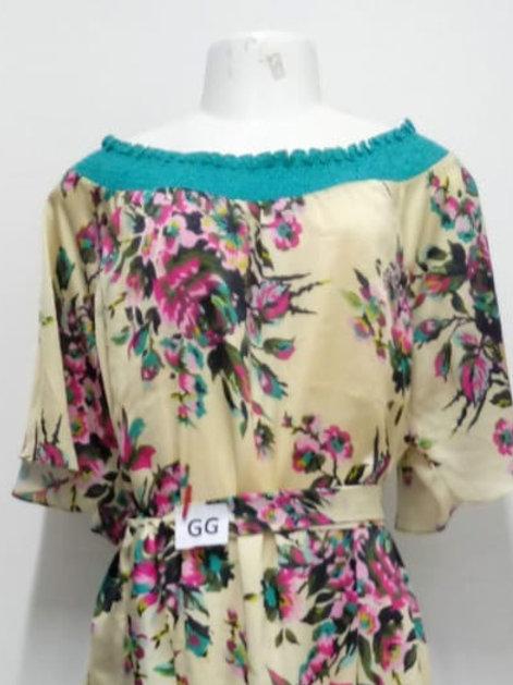 Vestido Trapézio de seda