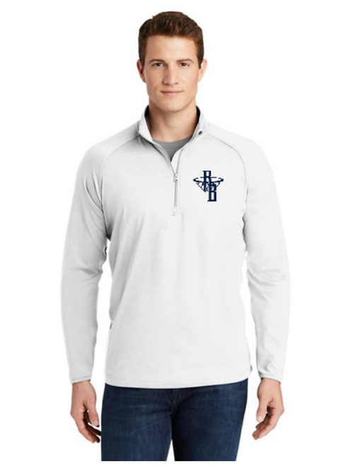 RESULTS 1/4 Zip Pullover (White)