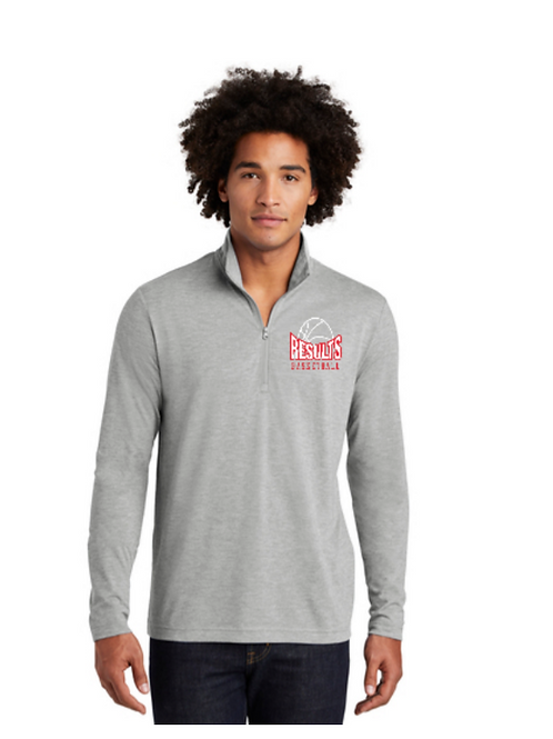 RESULTS 1/4 Zip Pullover (Grey)