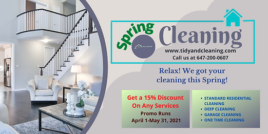 Spring Residential Cleaning Promo