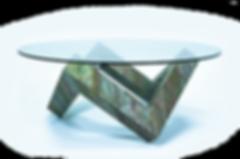 стол журнальный, каменный шпон