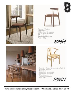 Mobiliario para cafeteria y terrazas